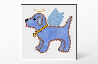 GO! Gingham Dog Single #5 Embroidery Designs by V-Stitch Designs