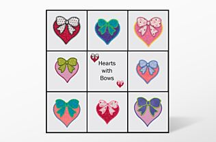 GO! Hearts and Bows Embroidery Designs by V-Stitch Designs  (VQ-HBES1)
