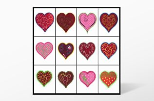 "GO! Heart-2"", 3"", 4"" Embroidery by V-Stitch Designs (VQ-HE2)"