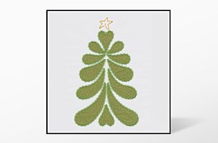 GO! Heather Feather Tree Single #1 Embroidery Designs by V-Stitch Designs (VQ-HFTS1)