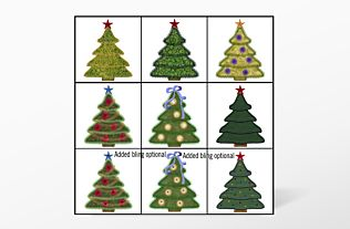 GO! Holiday Medley Tree Set Embroidery by V-Stitch Designs (VQ-HMT)