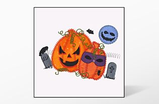 GO! Halloween Pumpkin Double Embroidery Designs by V-Stitch Designs (VQ-HPD)