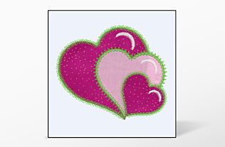 GO! Heart Single #2 Embroidery Designs by V-Stitch Designs