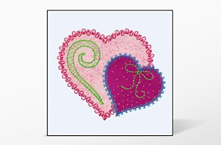 GO! Heart Single #5 Embroidery Designs by V-Stitch Designs