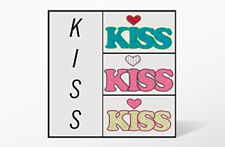 GO! Kiss Set Embroidery Designs by V-Stitch Designs (VQ-KISS)