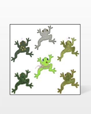 GO! Leaping Frogs 2 Embroidery Designs by V-Stitch Designs