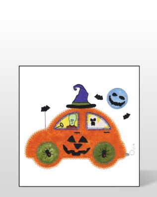 GO! Pumpkin Cute Car Embroidery Designs by V-Stitch Designs (VQ-PCC)