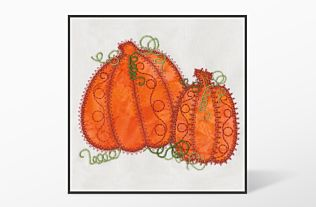 GO! Pumpkin Double #1 Embroidery Designs by V-Stitch Designs (VQ-PPD01)