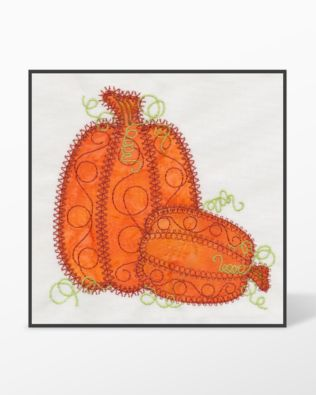 GO! Pumpkin Double #3 Embroidery Designs by V-Stitch Designs (VQ-PPD03)