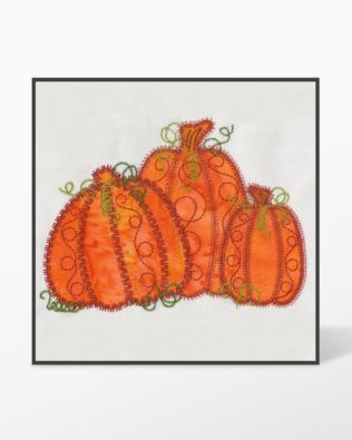 GO! Pumpkin Triple #1 Embroidery Designs by V-Stitch Designs (VQ-PPT01)