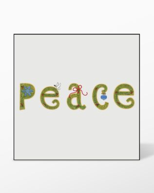 GO! Peace Set #4 Embroidery Designs by V-Stitch Designs (VQ-PS4)