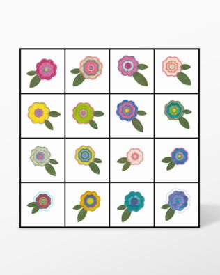 GO! Rose of Sharon #1 Embroidery Designs by V-Stitch Designs (VQ-ROS1)