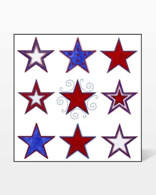 GO! Stars Embroidery Designs by V-Stitch Designs