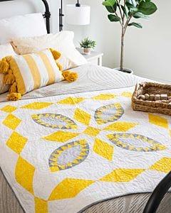 GO! Burst of Sunshine Throw Quilt Pattern