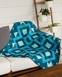 GO! Qube 10 Vortex Mosaic Throw Quilt Pattern