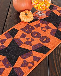 FREE GO! Boo Spider Web Table Runner Pattern