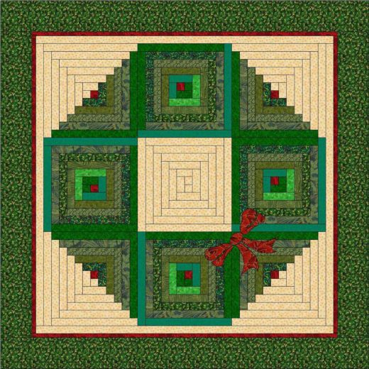 Christmas Wreath Wall Hanging Pattern Accuquilt