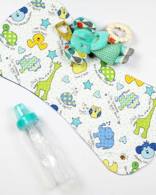Baby Animals Handmade Baby Burp Cloths
