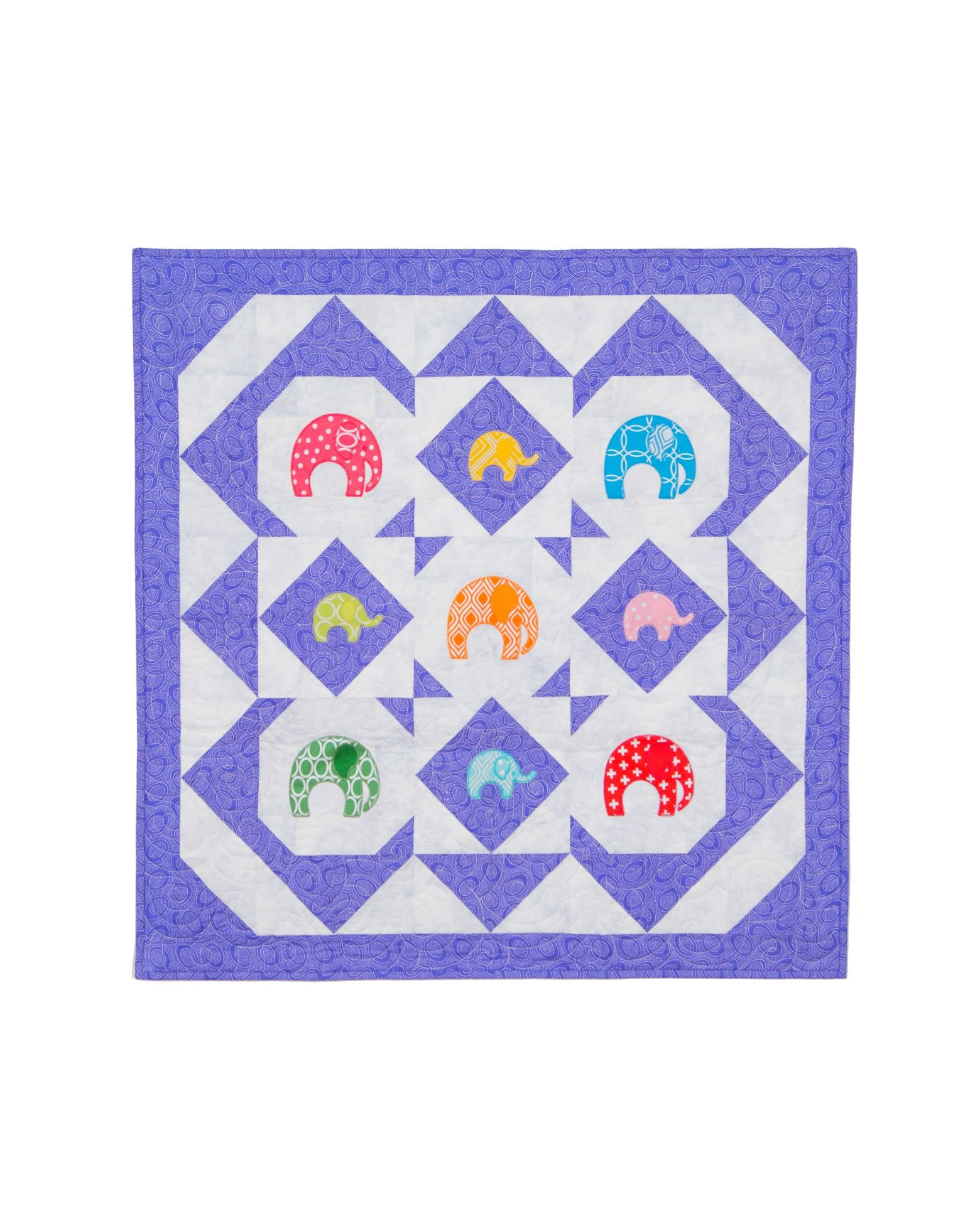Go Elephant Carousel Quilt Pattern Accuquilt
