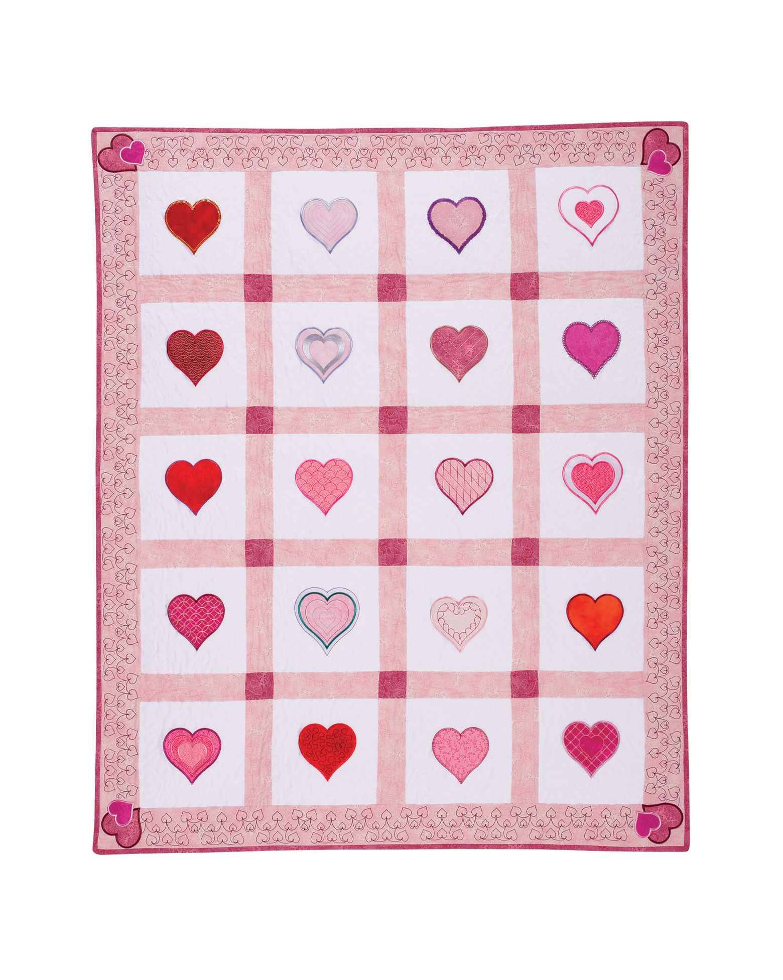 Free Hearts Quilt Pattern
