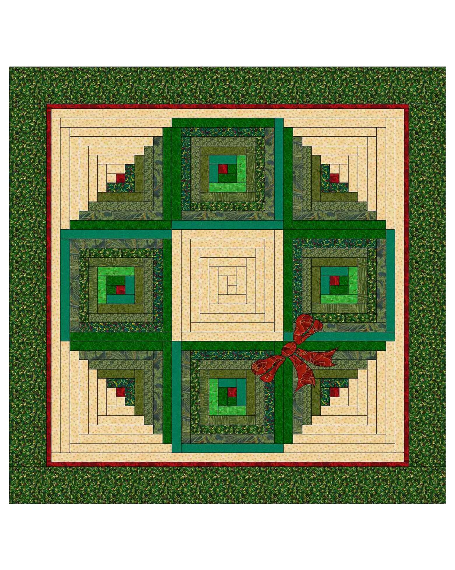Christmas Wreath Wall Hanging Pattern |AccuQuilt|