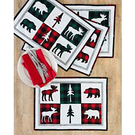 GO! Northwoods Medley Free Holiday Placemats Pattern