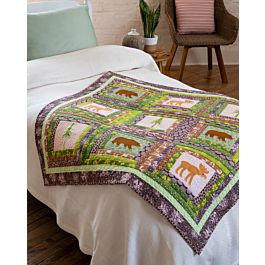 GO! Log Cabin in the Woods FREE Quilt Pattern