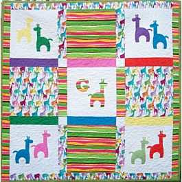 G is for Giraffe Quilt pattern