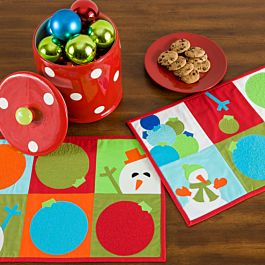 GO! Snowman Games Free Placemats Pattern