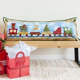 FREE GO! Christmas Train Parade Pillow Pattern