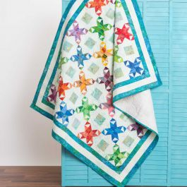 GO! Qube 6 Star Surprise Throw Quilt Pattern