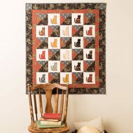 FREE GO! Qube 12 Lauras Kitty Quilt Pattern