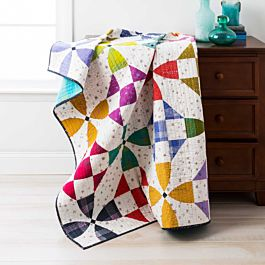 GO! Qube 8 Happy Village Free Quilt Pattern