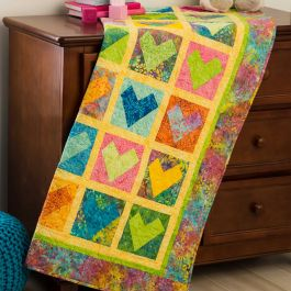 GO! Wonky Free Heart Baby Quilt Pattern
