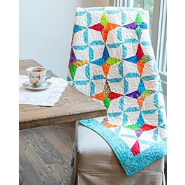 GO! Qube 6 Pinwheel Kite Throw Free Quilt Pattern