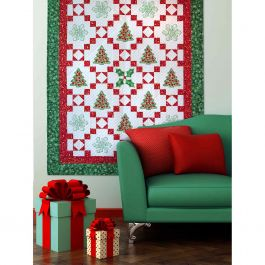 FREE GO! Qube 6 Holiday Medley Throw Quilt Pattern