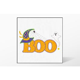 GO! Halloween Boo Embroidery Design by V-Stitch Designs