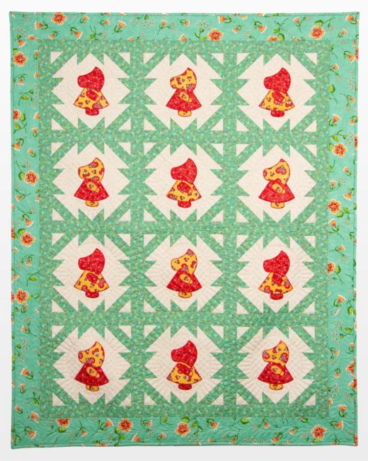GO Qube 40 Sunbonnet Sue Bows Quilt Pattern Accuquilt Fascinating Sunbonnet Sue Patterns