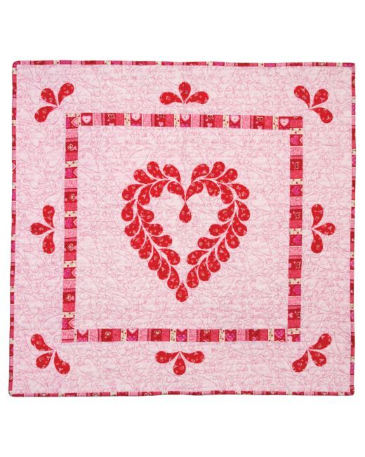 Hearts Afeather Quilt Pattern Accuquilt
