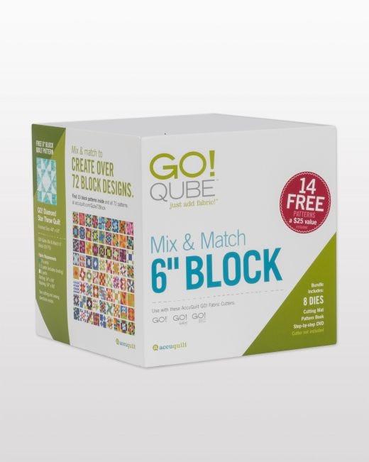 """AccuQuilt GO! Qube Mix & Match 6"""" Block"""