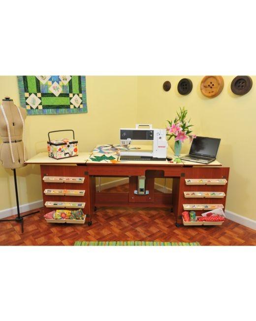 Arrow Bertha Sewing Cabinet Cherry AccuQuilt Gorgeous Bertha Sewing Machine Cabinet