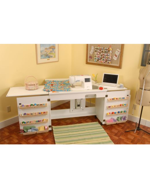 Arrow Bertha Sewing Cabinet White AccuQuilt Adorable Bertha Sewing Machine Cabinet