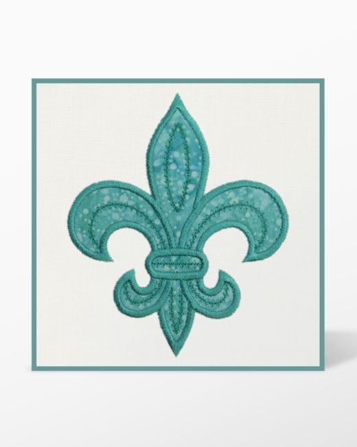 GO! Fleur De Lis Embroidery Designs by Marjorie Busby
