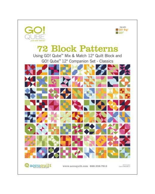 Go Qube 12 Classics 72 Patterns Booklet Accuquilt