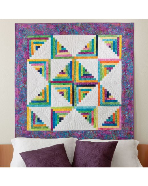 GO! Scrappy Star Log Cabin Quilt Pattern |AccuQuilt| : log cabin quilt block history - Adamdwight.com