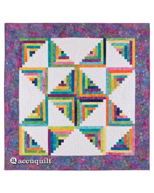 Go Scrappy Star Log Cabin Quilt Pattern Accuquilt