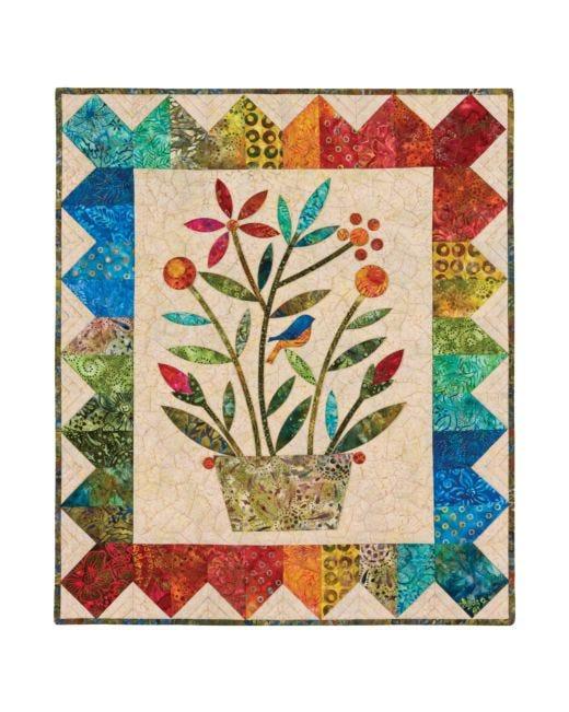 Go Rainbow Bouquet Wall Hanging Pattern By Edyta Sitar Accuquilt