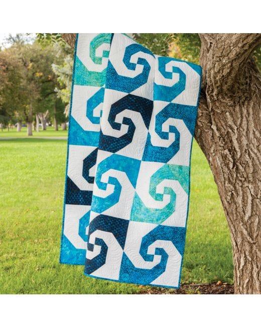 Go Swirling Snails Trail Quilt Pattern Accuquilt