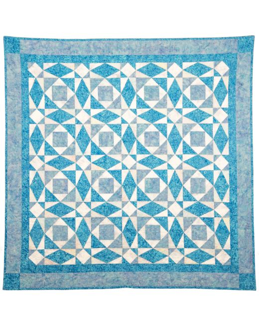 GO Qube 40 Storm At Sea Throw Quilt Pattern AccuQuilt New Storm At Sea Quilt Pattern