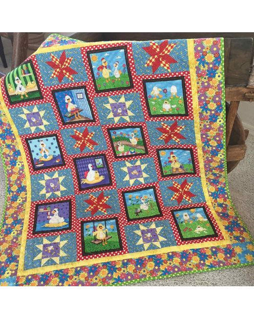 GO! Stars in the Coop Quilt Pattern |AccuQuilt|